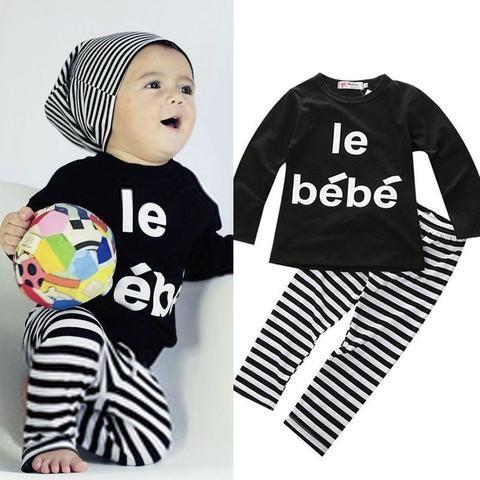 2-Piece Le Bébé Outfit 9-24M