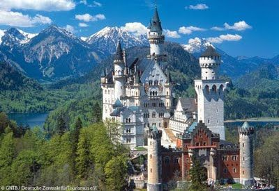 The inspiration for the Walt Disney Castle... Neuschwanstein Castle in Germany.