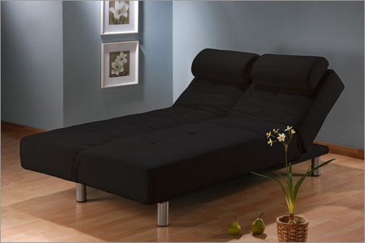Aruba Casual Convertible Deluxe Black Sofa Bed by Lifestyle