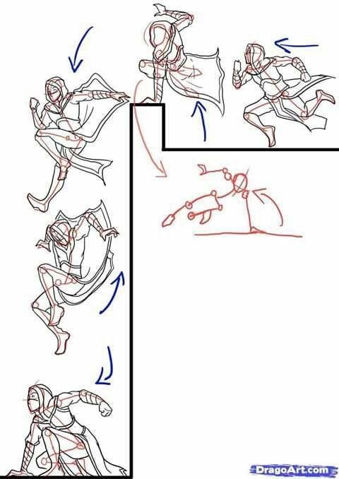 Bocetos Y Guias Para Dibujantes Poses De Pelea En 2020 Dibujo De Posturas Poses De Combate Bocetos