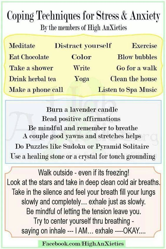 Coping skills for stress & anxiety
