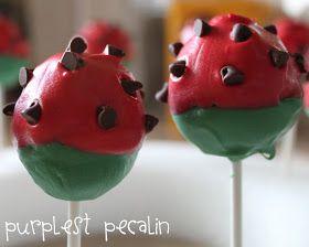 Purplest Pecalin: Watermelon Cake Pops