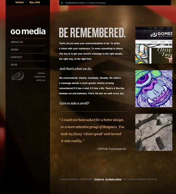 Go Media Design Firm Professional Tiles Full Image Background Vertical Menu Web Design Firm Web Design Web Development Design