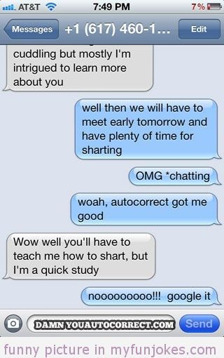 Autocorrect fail sharting — short clean funny jokes in ...