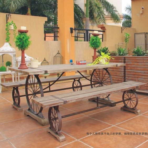 table square picture more detailed picture about american furniture exports to do the old wrought iron wood tabletop outdoor dining table desk desk child american retro style industrial furniture desk