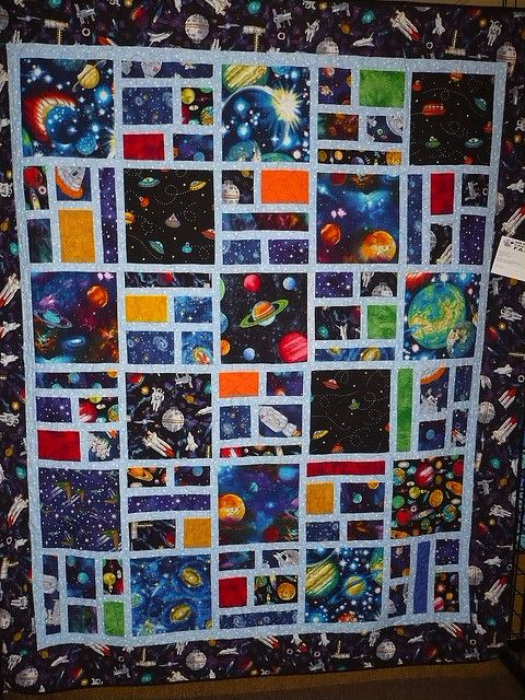 Outer space quilt by c_nilsen, via Flickr: