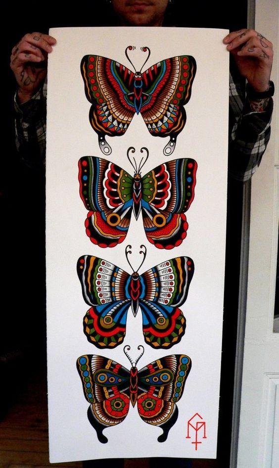Traditional Butterfly Tattoo Flash: Pinterest • The World's Catalog Of Ideas
