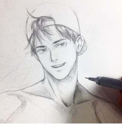 Drawing Faces Easy Tekenen 42 Super Ideas Anime Drawings Anime Drawings Boy Drawings