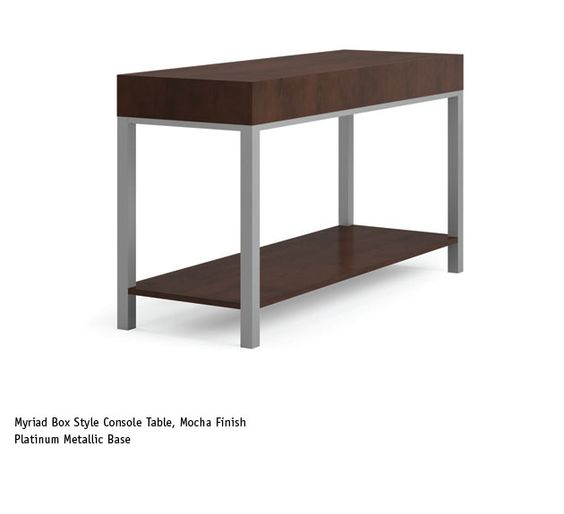 Box Console Table ~ Myriad box style console table national office furniture