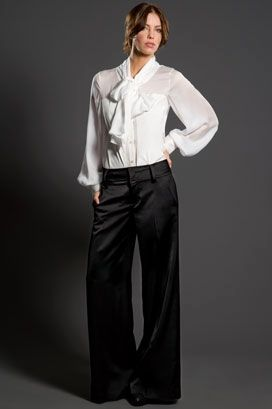 Black And White Bow Back Blouse 99