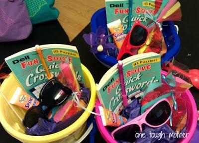 Easy beach/pool teacher gift ideas!