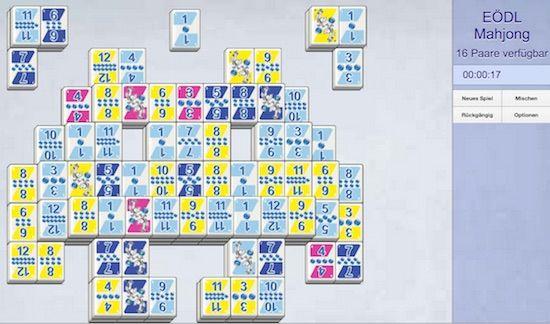Ursprünglich war das chinesische Spiel Mahjong ein Gesellschaftsspiel aus Spielsteinen. Inzwischen wird es sehr gerne als Computerspiel gespielt. Mahjong ähnelt dem Prinzip von Memory. Wie beim Memory dürfen pro Spielzug nur zwei Spielsteine, die zusammenpassen vom Spielfeld entfernt werden. Der…Weiterlesen ›