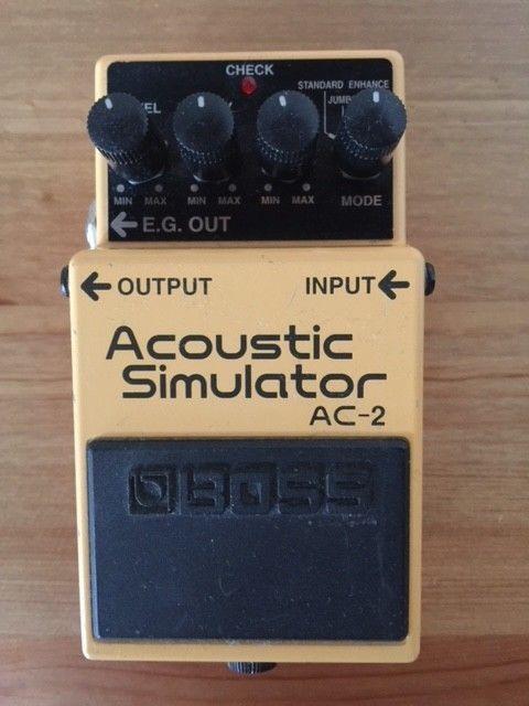 Boss Ac 2 Acoustic Simulator Guitar Effect Pedal Effects Pedals Guitar Effects Pedals Guitar Effects