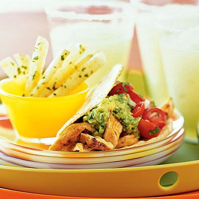 Soft Tacos with Spicy Chicken