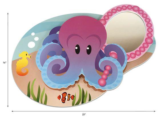 Mermaid Themed Rooms   mermaid theme octopus wall mirror