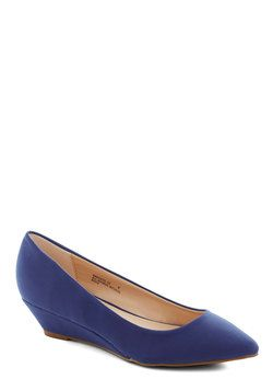 Interesting Point Wedge in Blue, #ModCloth