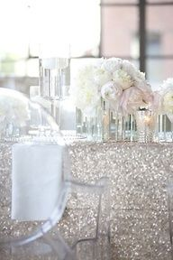 Gold glitter bridal shower. Love the colors