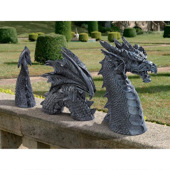 Design Toscano The Dragon of Falkenberg Castle Moat Lawn Statue New #DesignToscano #Traditional