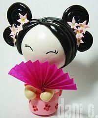 geisha en porcelana fria - Buscar con Google