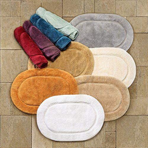 Superior 2 Piece Cotton Oval Bath Rug Set Bath Rugs Rugs Bath