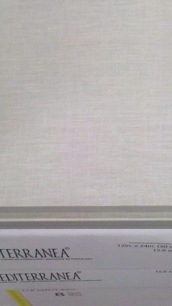 "Floor Touch Summer Breeze linen-textured 12x24"" tile."
