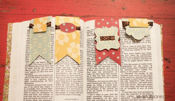 Magnetic bookmarks - cute easy craft to go with any lesson really.  c'mon girls - read read read your scriptures!
