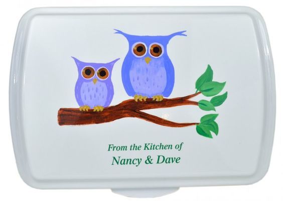 Owl Couple Artist Series Design : That's My Pan!, Personalized Cake Pans and More Starting at $39.99