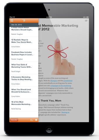 Announcing the New HubSpot Blog Apps for Your iPad or Kindle