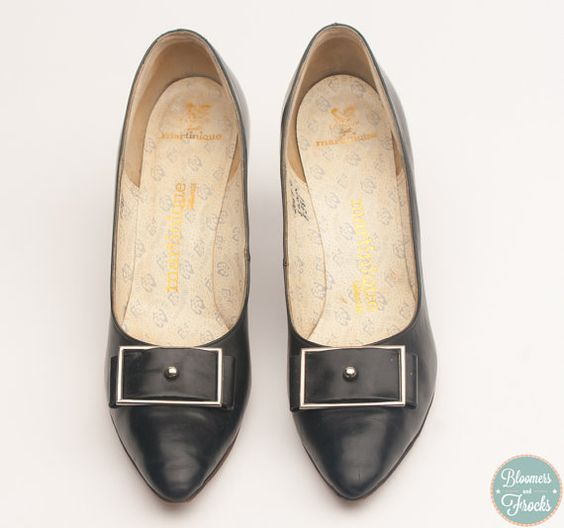 1950's Black Pump High Heel Shoes by Martinique $28