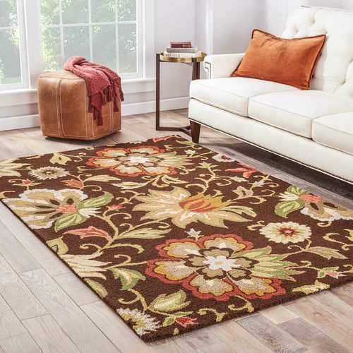 Https Www Pier1 Com Santiago Brown Floral 8 27 X 10 27 Rug 3464472 Html Area Rugs Floral Area Rugs Rugs