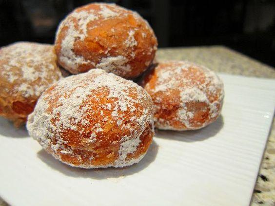 Florentine Doughnuts With Vanilla Custard Recipe — Dishmaps