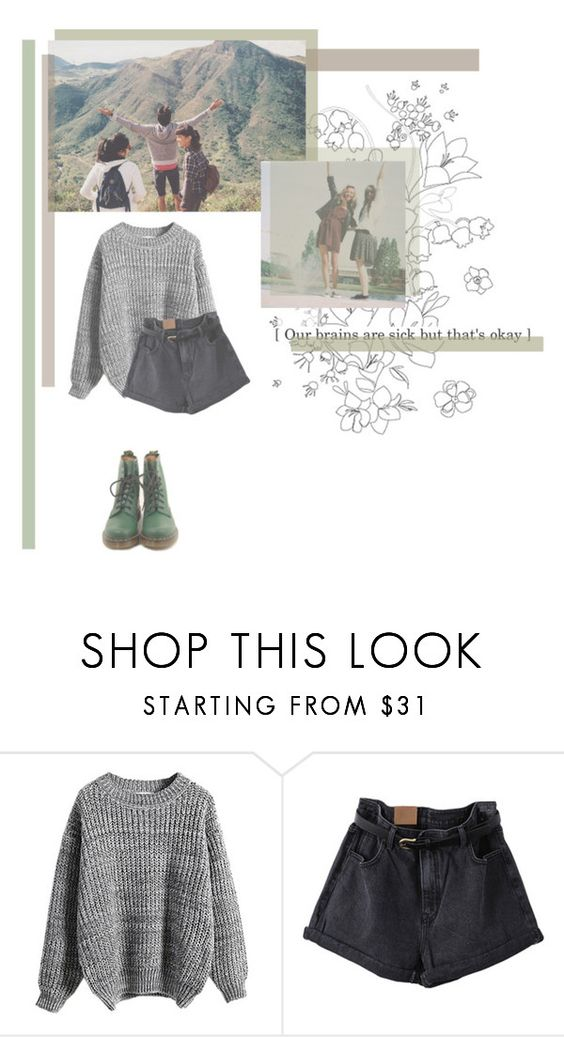 """Our brains are sick but that's okay"" by rebekahsalvadore ❤ liked on Polyvore featuring WithChic"