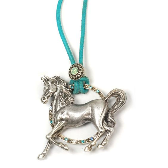 Sweet Romance Circle Ranch Pony Necklace, Women's