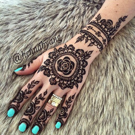Henna Design.Mehendi Mandala Art #MehendiMandalaArt