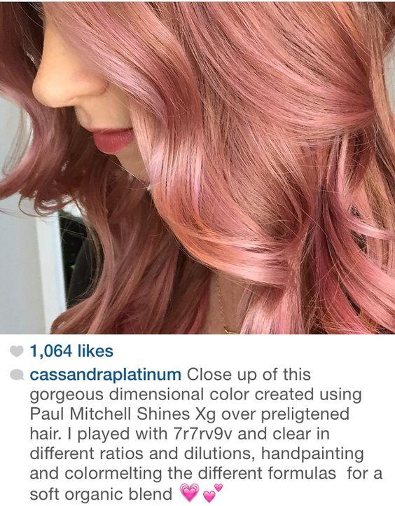 Rose Gold Formula Hair Pinterest Level 8 First