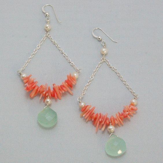 Coral Creek Earrings by Hermosa Jewelry  hermosajewelry.co...