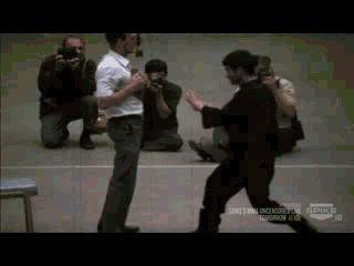 "senjukannon: "" Bruce motherfucking Lee. "" ""I fear not the man who has practiced ten thousand kicks once. But I fear the man who has practiced one kick ten thousand times."" """