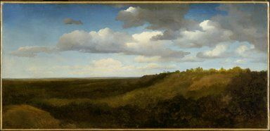 Charles-François Daubigny (French, 1817-1878). Landscape in the Roman Campagna, 1836. Oil on paper mounted on canvas, 16 1/8 x 33 7/8 in. (41 x 86 cm). Brooklyn Museum, Healy Purchase Fund B and Gift of Miss Isabel Shults, by exchange, 1991.214