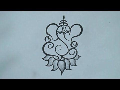 Ganesha Pencil Drawing Easy Drawing For Ganesh Chaturthi 2019 Simple Ganesha Drawing Youtube Ganesha Drawing Mandala Design Art Art Drawings Simple