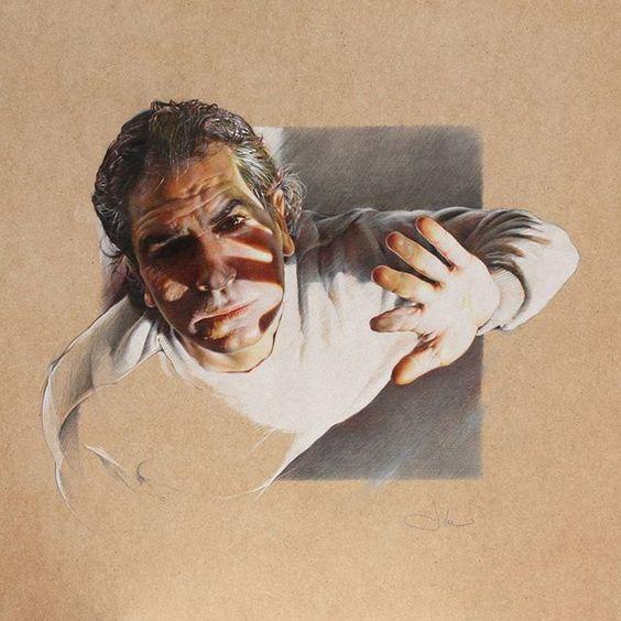 CERCAMI, pastel pencils on rough wood, matite pastello su legno grezzo, cm 60x60, 2015 #art #disegno #drawing #figura #pencil #matitepastello #illustration #creativeuprising #tuvaldekisanat #worldofpencils #artdrawing #drawingpencils #academicdrawing #artacademy #artmagazine