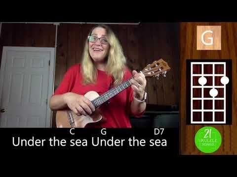 16 Under The Sea Easy Ukulele Play Along Tutorial 21 Ukulele Songs Youtube Ukulele Tutorial Ukulele Songs Disney Ukulele Tabs Songs