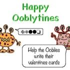 The Oobly Aliens need help to translate their valentines day cards.There is a blank version for student to write their own messages....