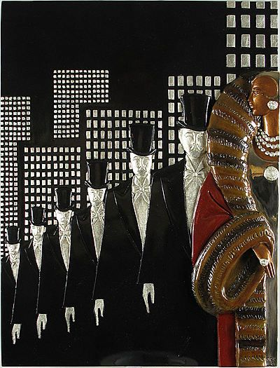 """Top Hats""...........Wall Sculpture"