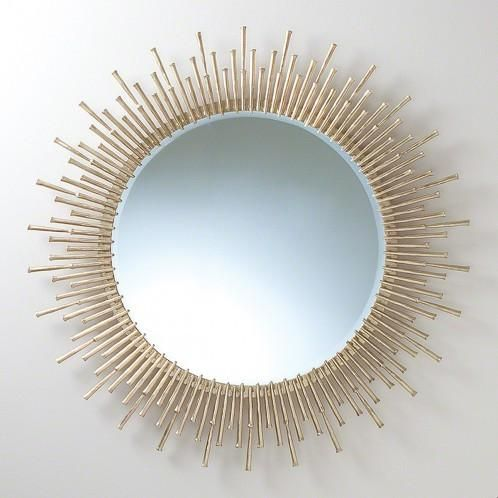 Spike 42 Mirror Antique Brass With Images Contemporary