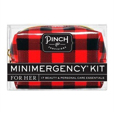 Cette trousse d'urgence Minimergency® comprend tout ce qu'il faut pour la femme en déplacement, et se glisse aisément dans un sac main. 17 articles de beauté et de soins dans une pochette de format voyage. Glissez-les dans votre fourre-tout ou sac à main et rendez-vous à votre prochaine soirée sans aucune inquiétude et prête à tout! L'ensemble comprend : une paire de fermoirs de boucles d'oreilles, une serviette déodorante mouillée, du ruban adhésif double face, du détachant, une lime, du…