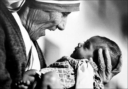 """""""Intense love does not measure, it just gives."""" -Mother Teresa"""