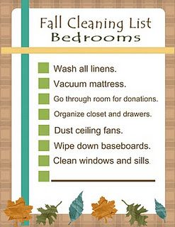 Fall Cleaning: Bedrooms