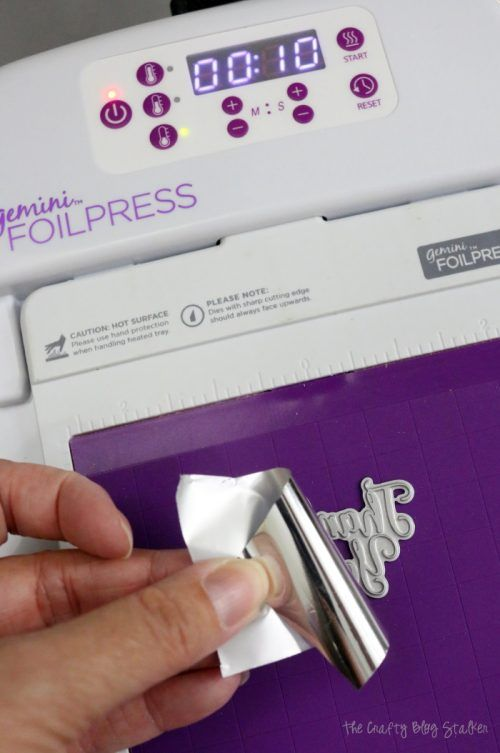 Foil Press : press, Apply, Transfer, Gemini, Foilpress, Pressed, Cards,, Stamp, Card,, Crafters, Companion, Cards