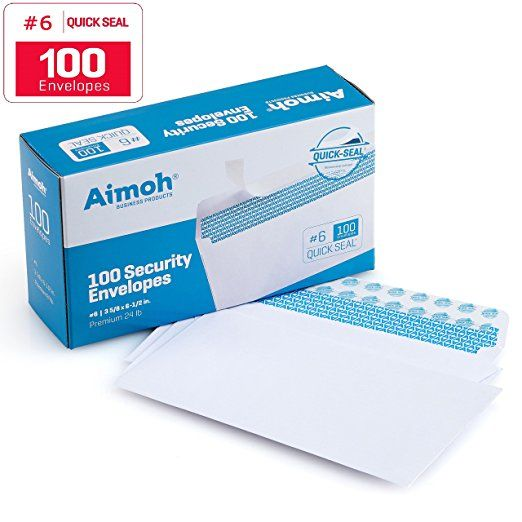 100 6 3 4 Security Self Seal Envelopes Windowless Security Tint Ideal For Personal Professional Mailing Qui Security Envelopes Envelope Design Envelope