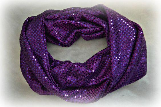 Purple Infinity Scarf by SeamsBySarahEllen on Etsy